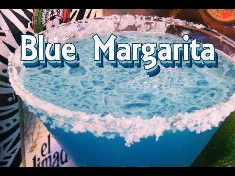 Video Blue Margarita Recipe - Blue Cocktail Recipes - TheFNDC.com