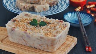 蘿蔔糕 — 7斤蘿蔔1斤粉柔軟不散開的配方 Turnip Cake |BAKEwithCarmen