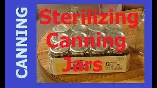 HOMESTEAD CANNING - Sterilizing Canning Jars