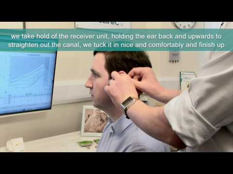 How to fit A Receiver Behind The Ear hearing aid properly