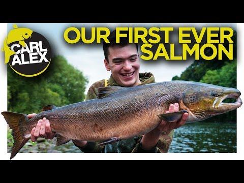 Laksefiskeri med Carl & Alex