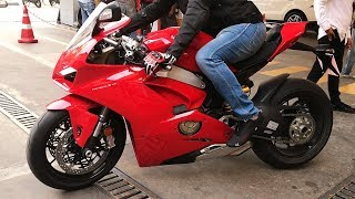 Ducati V4 S Panigale in INDIA & CRAZY Suzuki B-King (Bangalore)