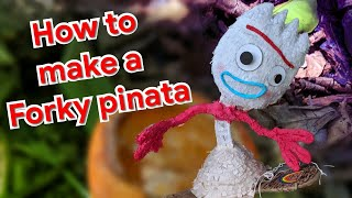 How To Make FORKY From Toy Story 4 PINATA Disney