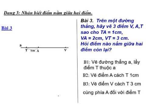 Chuyên đề hình học lớp 6: Luyện tập Khi nào AM+MB=AB?