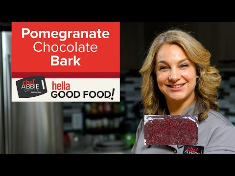 Dark Chocolate Bark with Pomegranate