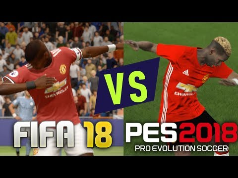 FIFA 18 vs PES 18 Celebrations 4K Comparison