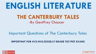 The Canterbury Tales | Important Questions | The Age of Chaucer | The Canterbury Tales Quiz