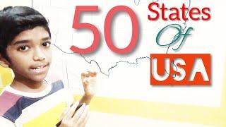 50 States of USA | tricks | Easy way