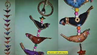 DIY खूबसूरत राजस्थानी पक्षी दीवार सजावट/ How To Make Rajasthani Bird Wall Hanging