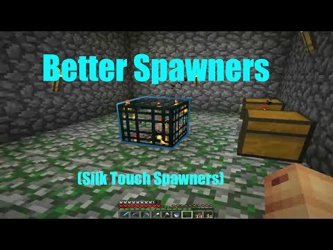 Better Spawners (Silk Touch Spawners) -- Datapack for 1 14
