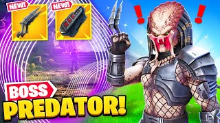 *NEW* PREDATOR BOSS found in Fortnite! (NEW MYTHIC, SECRET SKIN + MORE) by Ali-A
