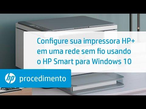 Configure sua impressora HP+ em uma rede sem fio usando o HP Smart para Windows 10 | HP Smart | HP