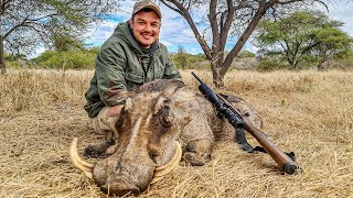 Hunting Warthog in South Africa! A Warthog For The Cameraman, Warthog Skewers and Cheese Sausages!