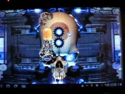 Video of Steampunk Skull Live Wallpaper