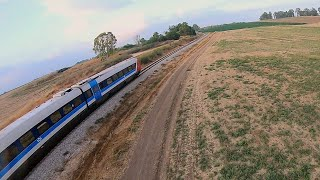 Running after the train with my FPV racer ????