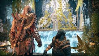 God of War 4 - Brok's Reaction To Blades of Chaos & Mimir Roasts Brok (GoW 4 2018)