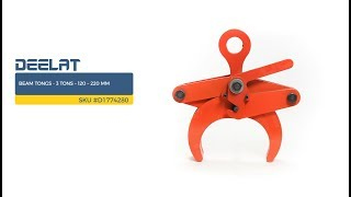Beam Tongs - 3 Tons – 120 – 220 mm SKU #D1774280