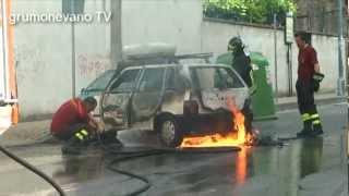 preview picture of video 'Grumo Nevano - Tentata rapina alla gioielleria ORO IN (Auto in fiamme)'