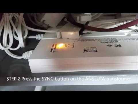 How To Unpair Ikea Ansluta Remote Light Switch from Ansluta Transformer