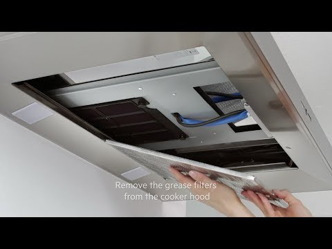 How to change and maintain your AEG cooker hood filter - Long life filter