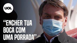 Bolsonaro se irrita com repórter após pergunta sobre Queiroz