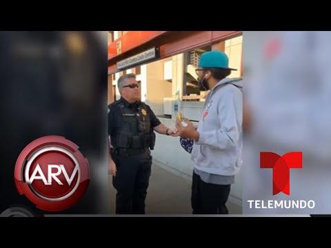 Captan el arresto de un hombre afroamericano por comerse un sándwich | Al Rojo Vivo | Telemundo