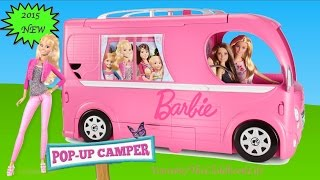 Gambar cover Barbie Pop Up Camper 2015 Unboxing and Tour- Barbie Dolls Life in The Dreamhouse