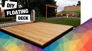 DIY Floating Deck | How To Build A Detached Deck | Backyard Ground Level