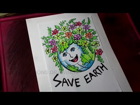 How to Draw Save Earth / Save Environment Poster Drawing