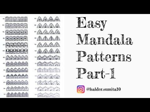 100 Easy Mandala Patterns For Beginners ||Part-1||