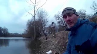 Ловля судака весной.Джиг с берега в марте.