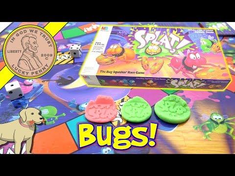 Splat! - The Bug Squishin' Race Game - Squish-It Dough - Milton Bradley Family Game