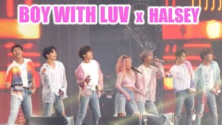 190607 4K- Boy with Luv WITH HALSEY @ BTS 방탄소년단 Speak Yourself Stade de France Paris Concert Fancam
