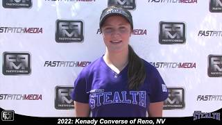 2022 Kenady Converse Speedy and Athletic Outfield Softball Skills Video - Nevada Stealth