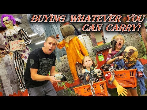 Buying Whatever You Can Carry at Spirit Halloween!!!