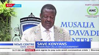 Musalia Mudavadi calls on the Government to consider economic Plight of Kenyans