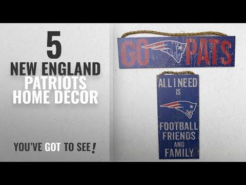 Top 10 New England Patriots Home Decor [2018 ]: New England Patriots, wood wall decor, set of 2