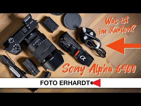 Ausgepackt: Sony Alpha 6400 (Unboxing)