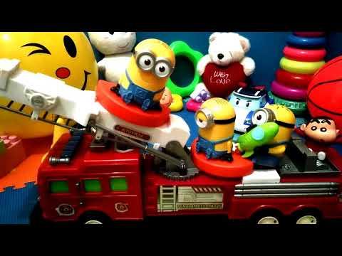 Mainan Anak Mobil Pemadam Kebakaran Larva Minion Teman Menaiki Mobil Pemadam Kaskus