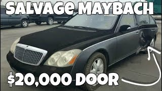Want to Rebuild a Salvage Maybach? One door will cost you $20,000!