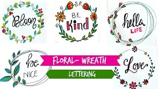 Draw Floral Wreath + Lettering
