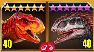 TYRANNOSAURUS REX Vs INDOMINUS REX - Jurassic World The Game