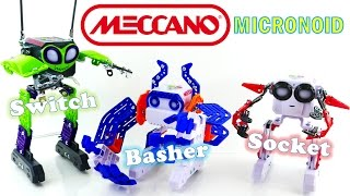 Robot STEM Toys - Meccano Micronoid Unboxing and Review - Switch, Basher and Socket