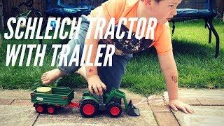 Schleich Tractor with Trailer from the Schleich Farm World range