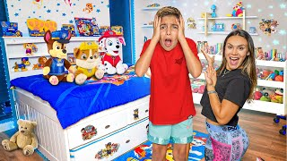 SURPRISING OUR SON WITH a CHILDISH ROOM MAKEOVER!! 😂