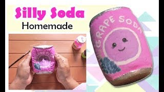 Cara Membuat Squishy Grape Soda (Silly Soda) - How To Make Grape Soda Squishy