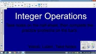 Operations with Integers