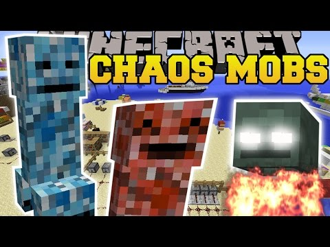 Minecraft: CHAOS MOBS (ROCKET JUMPING CREEPERS, ATTACKING SKULLS, & CHANGE COLORS!) Mod Showcase