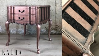 How To Layer With Metallic Paint / Furniture Makeover