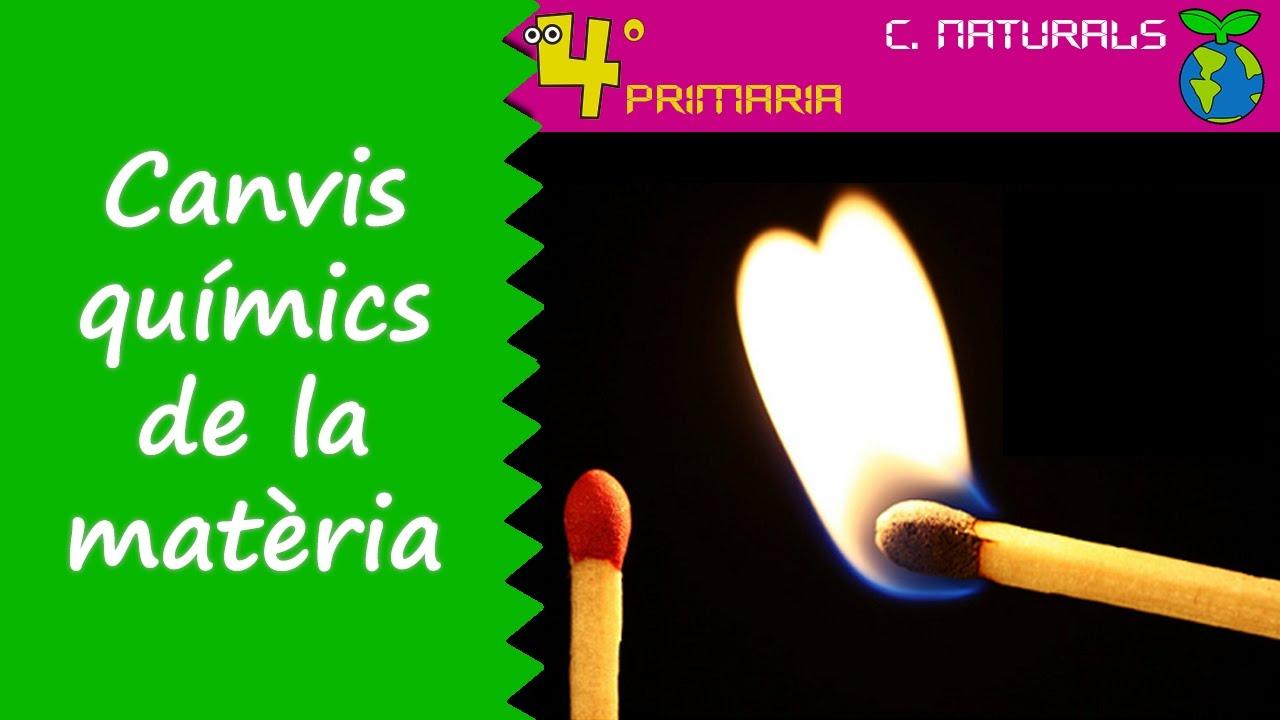 Ciències de la Naturalesa. 4t Primària. Tema 6. Canvis químics de la matèria